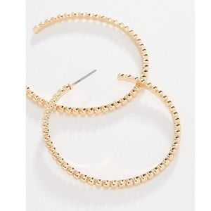 *NWT* SHASHI 'Asha' Gold Hoop Earrings